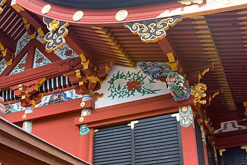 Hongu Tapınağı'ndan bir detay.