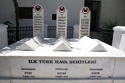 İlk Türk hava şehitleri, Şam.