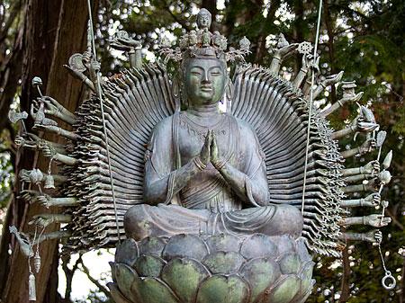 Kannon heykeli, Shosha Dağı.