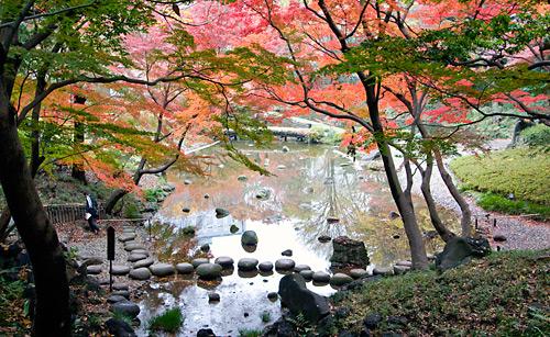 Koishikawa Korakuen Bahçesi'nden görünümler.