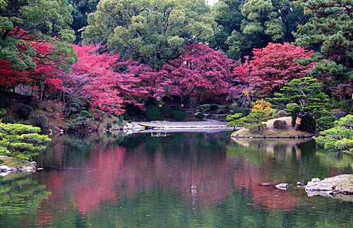 Shukkei-en bahçesinden görünümler