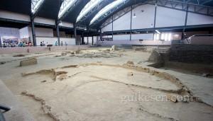 Banpo Müzesi kazı alanının genel görünümü.