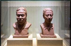 Kazıda çıkan kafataslarından tahmini rekonstrüksüyon yüzler.