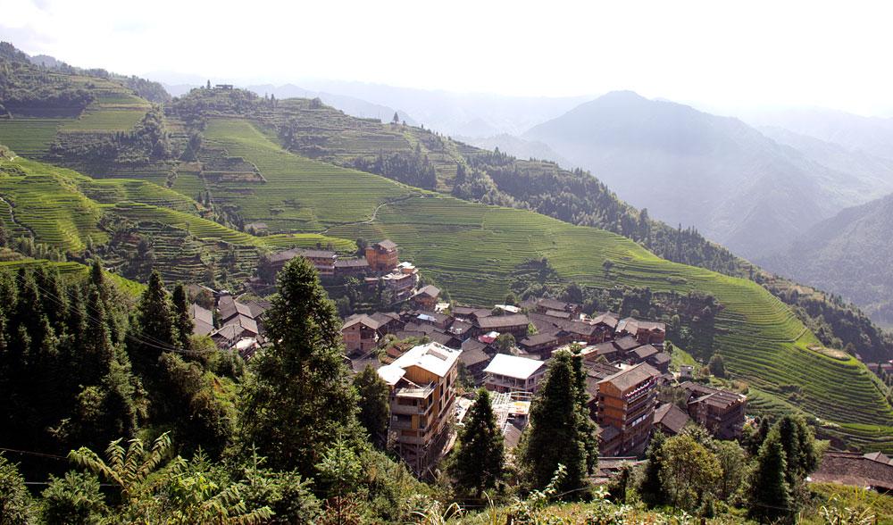 Ping'an köyü.